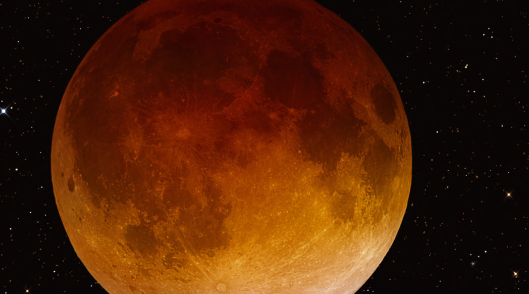 Public domain photo of lunar eclipse from April 15, 2014