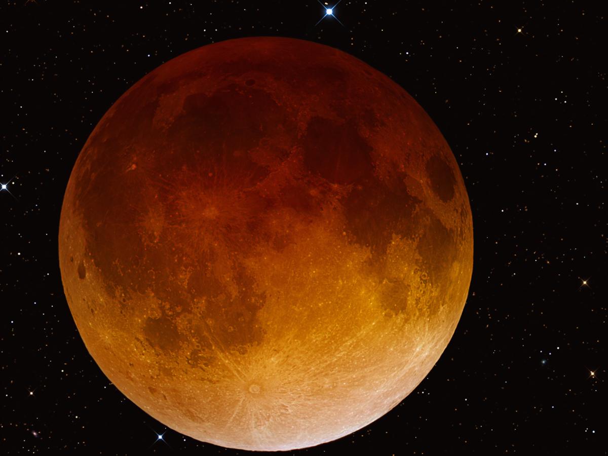 Public domain photo of lunar eclipse from April 15, 2014