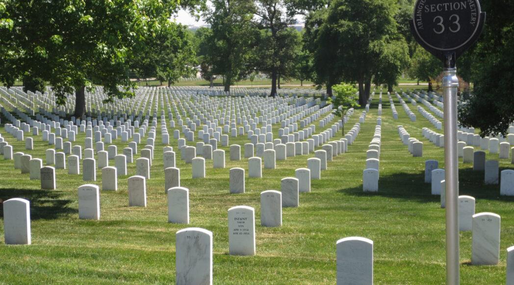Photograph of Arlington National Cemetery, Washington D.C. section 33