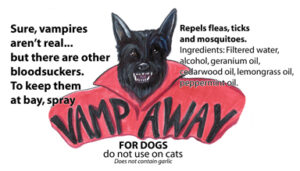 Label of VampAway for Dogs